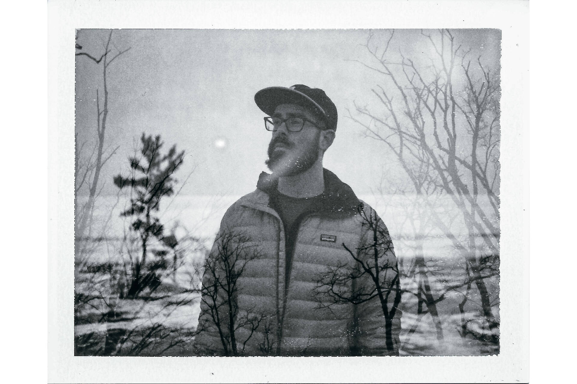 Anthony Barlich double exposure portrait shot on FB-3000b film