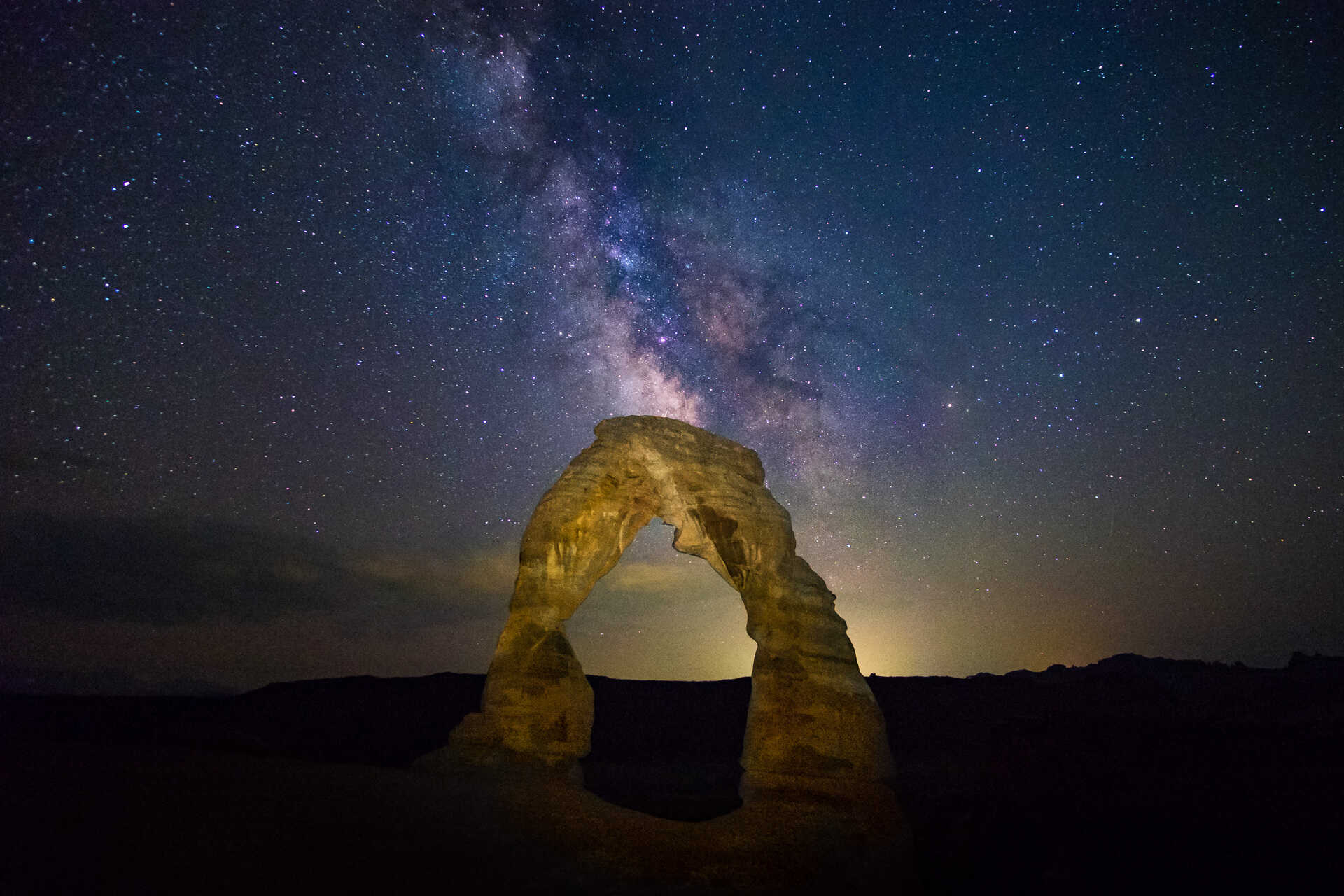 The Milky Way at Delicate Arch in Arches National Park